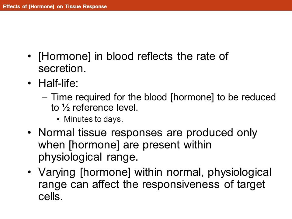 Effects of [Hormone] on Tissue Response